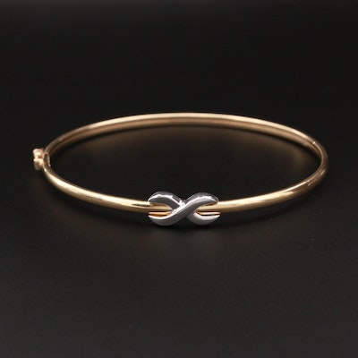 14K Yellow and White Gold Infinity Bracelet