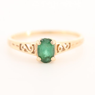Vintage Michael Anthony 14K Yellow Gold Spinel Triplet Ring
