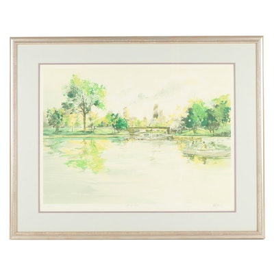 "Tom Lynch Chicago Lithograph ""Spring Day"""