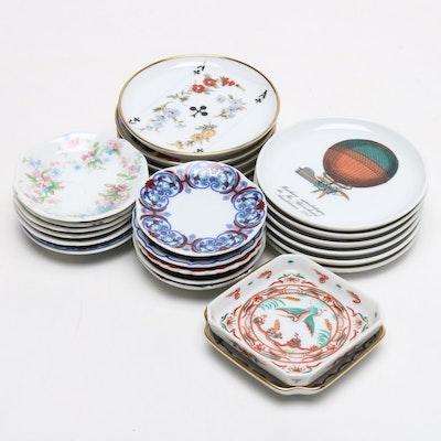 Miniature Decorative Plates Featuring Koimari-Fu Porcelain and More