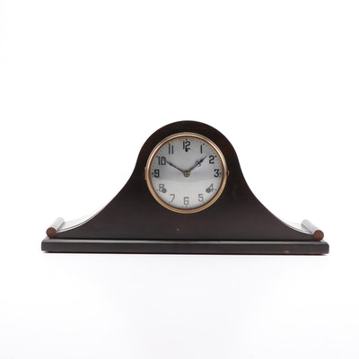 "Gilbert ""1807"" Rosewood Tambour Mantel Clock, Early 20th Century"