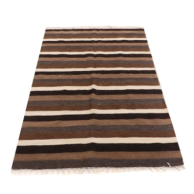 Handwoven Turkish Goat Hair Flat Weave Rug