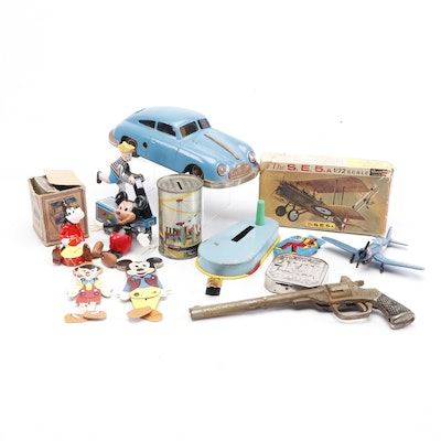 Toys, Models, Banks and More Collectibles Including Disney, Circa 1940