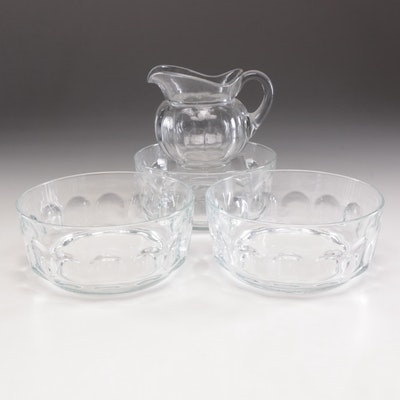 Arcoroc Glass Center Bowls with Pitcher