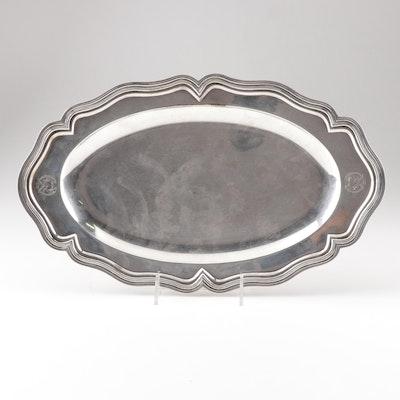 Wolfers Frères 800 Silver Presentation Tray, Circa 1929