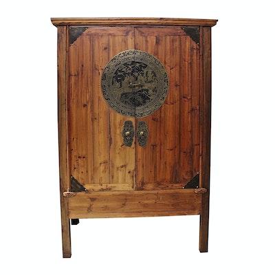 Chinese Wooden Wardrobe Cabinet