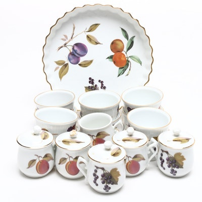 "Royal Worcester ""Evesham"" Porcelain Cookware and Serveware"