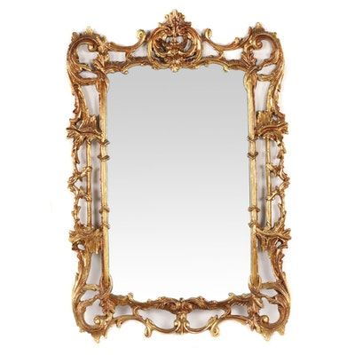 Baroque Style Gilt Finished Mirror, Contemporary