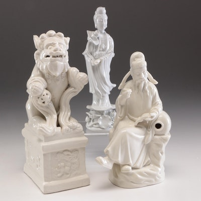 Chinese Ceramic Figurines, Mid to Late 20th Century