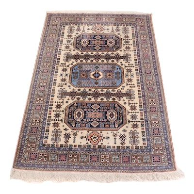 Hand-Knotted Persian Meshkin Wool Rug