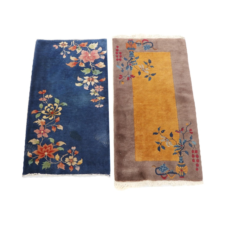 Hand-Knotted Chinese Nichols Style Wool Rugs