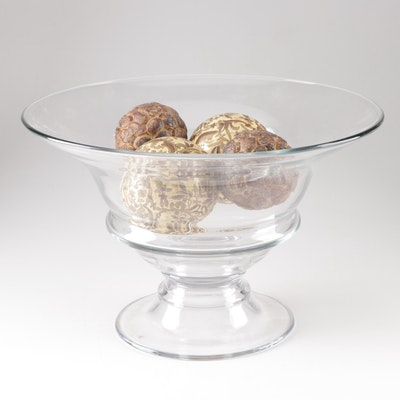 Decorative Glass Bowl and Carpet Balls