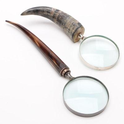 Horn Handled Magnifying Glasses