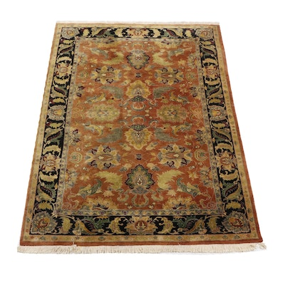 Hand Knotted Indian Wool Area Rug