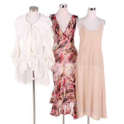 Anne Fontaine Lera Blouse From The Estate of Susan Lucci and Coviello Dress