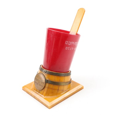 Jacob Ruppert & Company Brewery Frother Holder with Scraper, Mid-Century