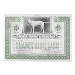 Farmers Deposit National Bank Pennsylvania Stock Certificate