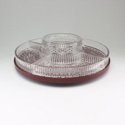 Glass Rotating Appetizer Serving Platter