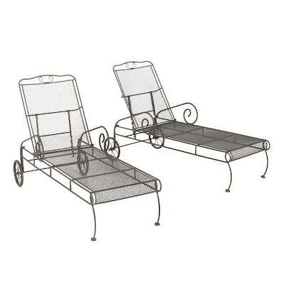 Bent Metal Patio Lounge Chairs