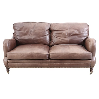 Whittemore-Sherrill Leather Loveseat