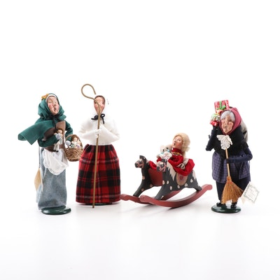 "Byers' Choice Ltd. ""The Carolers"" Dolls, 1990s"
