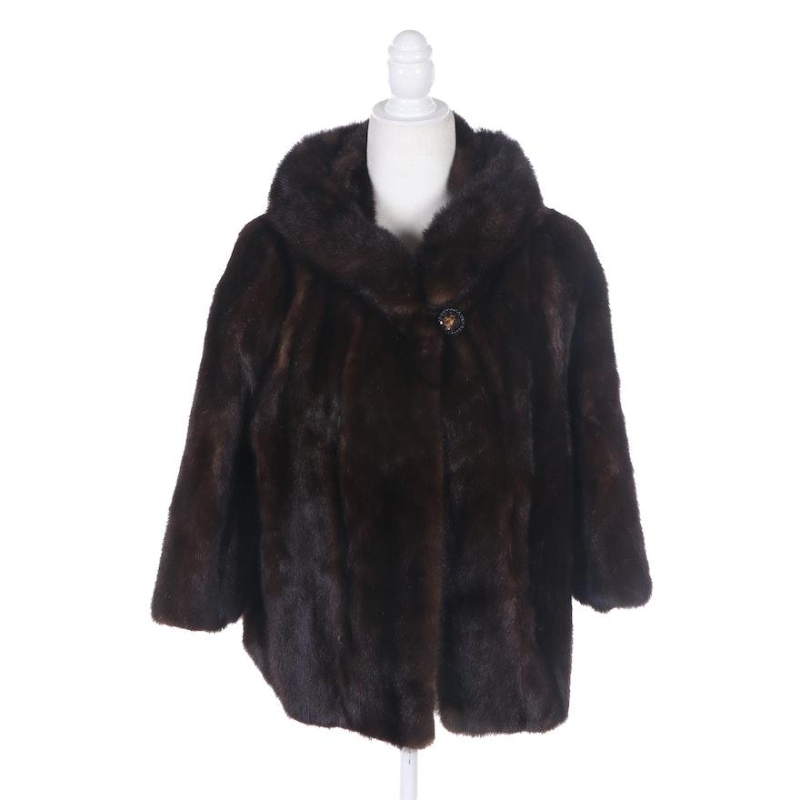 Mink Coat Value >> Dark Mahogany Mink Fur Coat Vintage