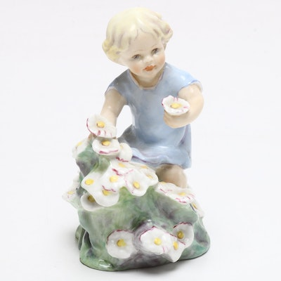 "Royal Worcester ""Months of the Year, May"" Bone China Figurine, Mid-Century"