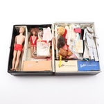 "Vintage Barbie Dolls, Clothing, and ""Ponytail"" Wardrobe Carrying Case, 1960s"