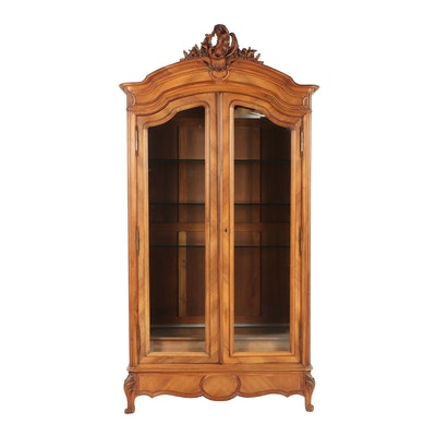 French Provincial Style Display Cabinet, 20th Century