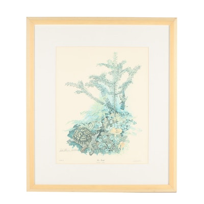 "Sallie Ellington Middleton Offset Lithograph ""Box Turtle"""