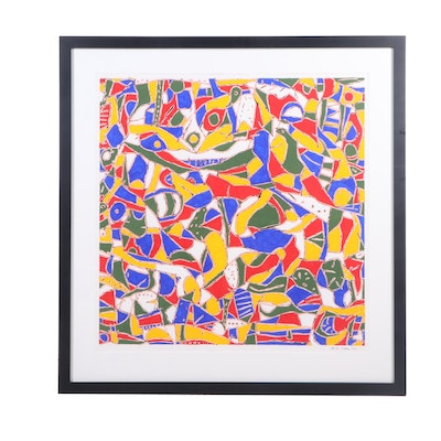 Richard Polsky Abstract Acrylic Painting