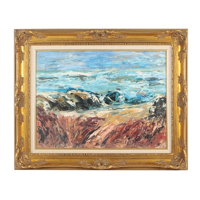 20th Century Seascape Oil Painting