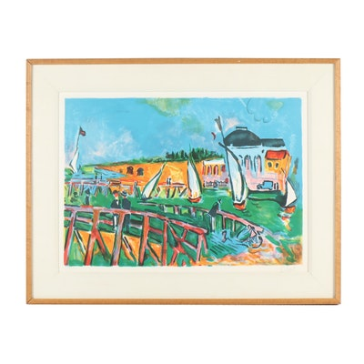 Jean Claude Picot Seaside Lithograph