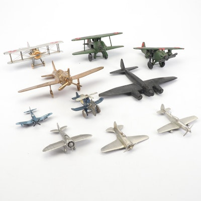 Collection of Die-Cast and Toy Airplanes, Vintage