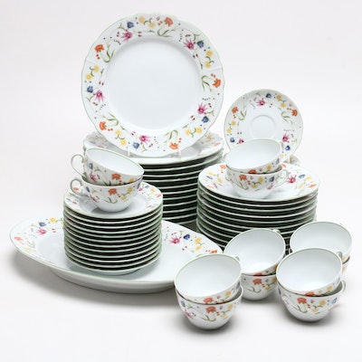 "Denby ""Tea Party"" Floral China Dinnerware, Mid to Late 20th Century"