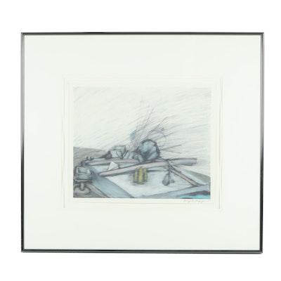 Enrique Chagoya 1983 Pastel Drawing