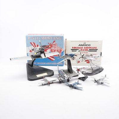Model Airplanes Including World War II P-51 Mustang and More