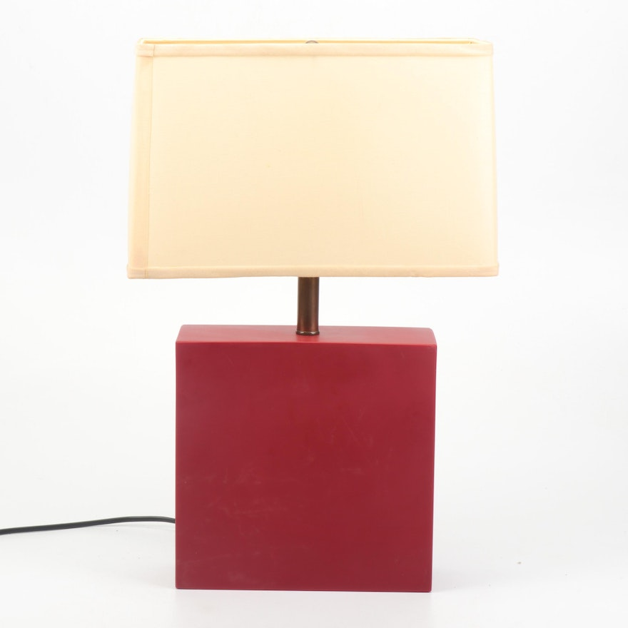 Martha Sturdy Red Resin Sculptural Table Lamp, Late 20th Century