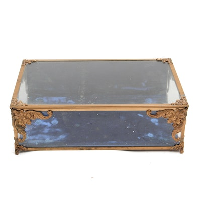 Antique Glass and Metal Display Box