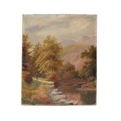 Bolton Kincaid Oil Painting of Landscape, Late 19th Century