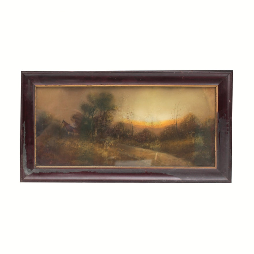 Pastel of Landscape, Early 20th Century