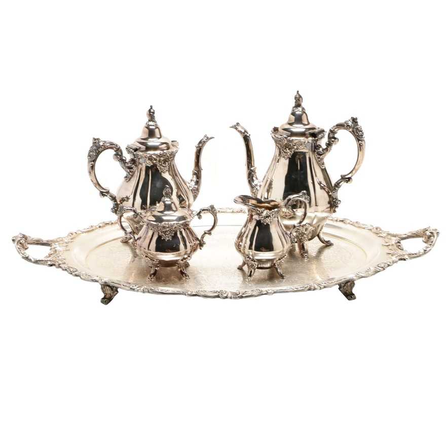 "Wallace ""Baroque"" Silver Plate Tea and Coffee Service"