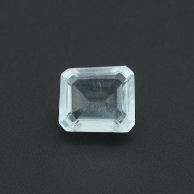 Loose 1.53 CT Aquamarine Gemstone