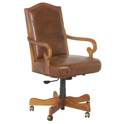 Office Chair with Leather Upholstery from Toms-Price