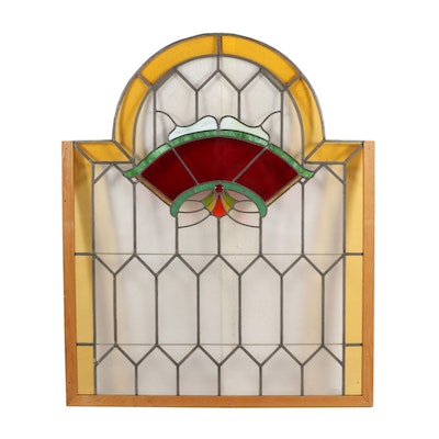 Arched Stained Glass Window Panel