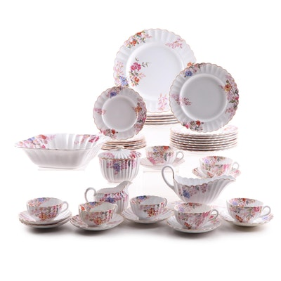 """Spode """"Chelsea Garden with Mustard Trim"""" Porcelain Dinnerware and Serving Pieces"""