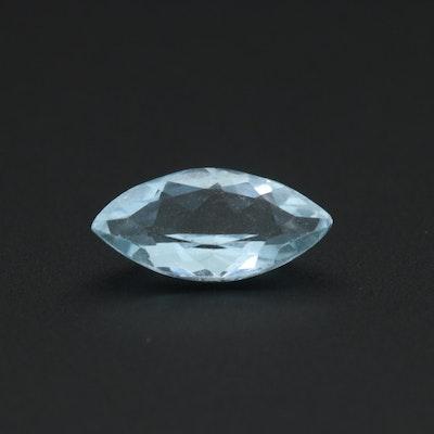 Loose 0.86 CT Aquamarine Gemstone