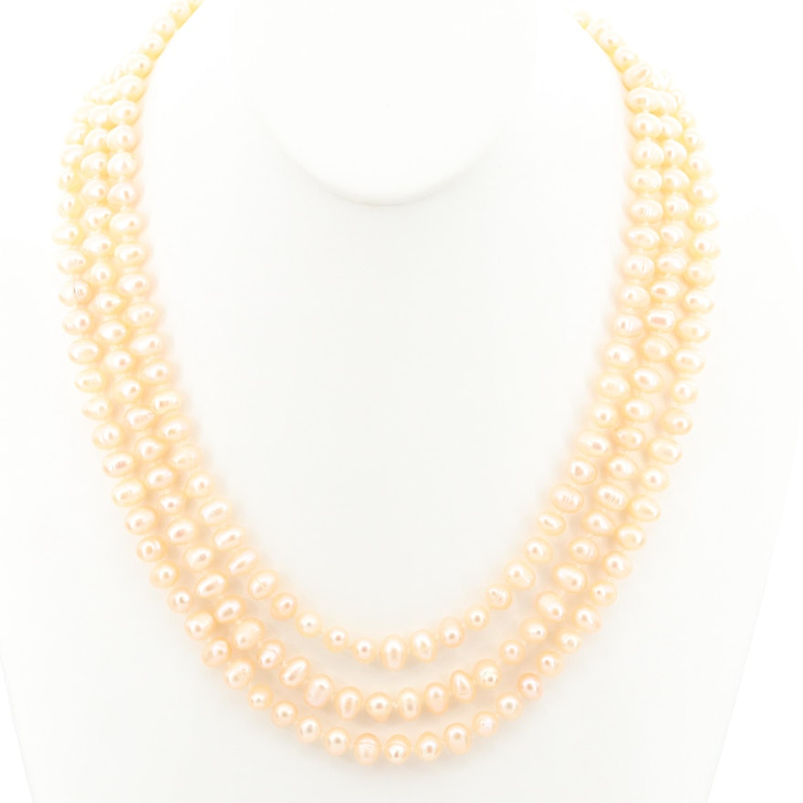 Endless Strand of Cultured Pearls