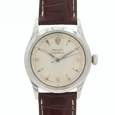 Vintage Rolex Oyster Perpetual Semi Bubbleback Wristwatch, 1954