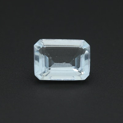 Loose 1.09 CT Aquamarine Gemstone